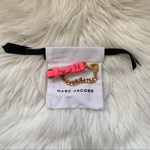 New! MARC JACOBS Bmx Leather 10K Chain Bracelet